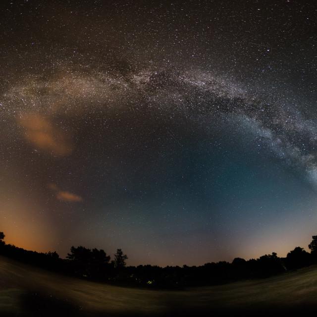 """Arch Of Milky Way Kelling Heath"" stock image"