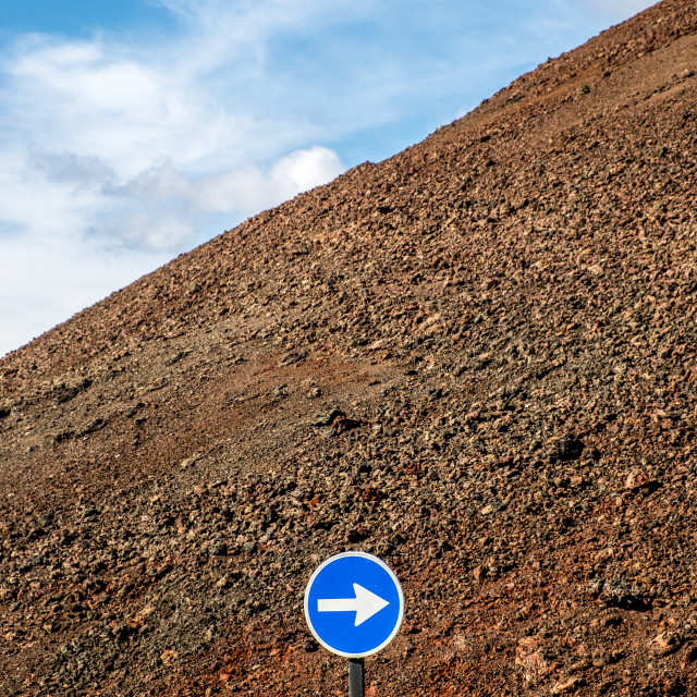 """Traffic symbol in Lanzarote, Canary Islands, Spain"" stock image"