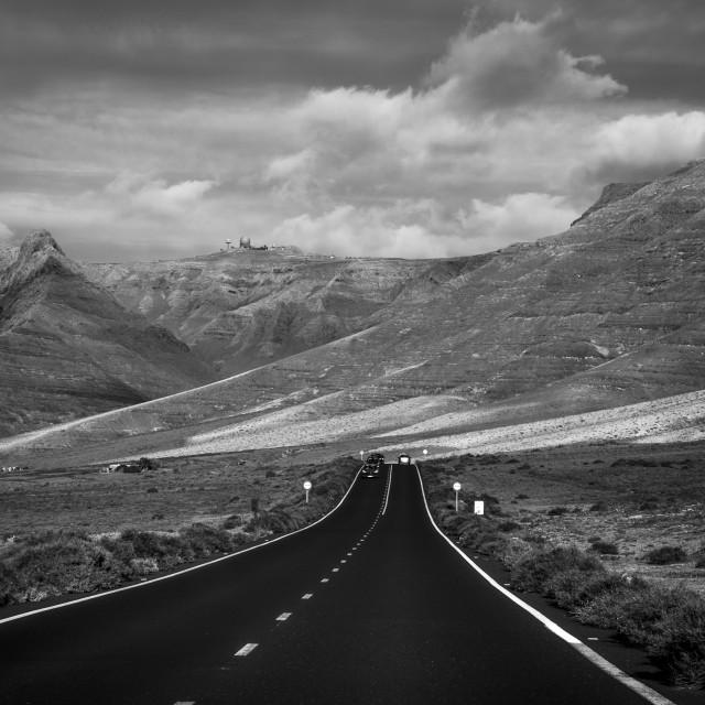 """Road to Caleta de Famara"" stock image"