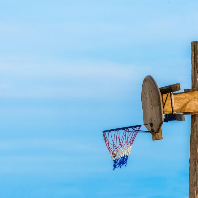 """Vintage Basketball Net"" stock image"