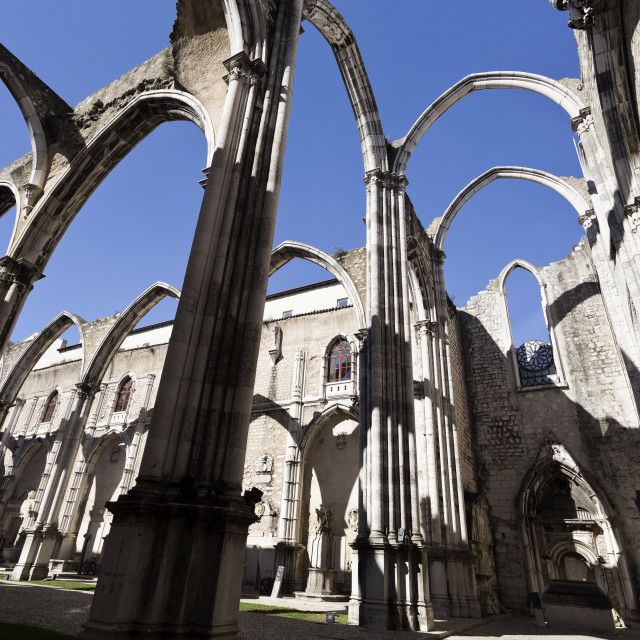 """Ruins of the Carmo Convent"" stock image"