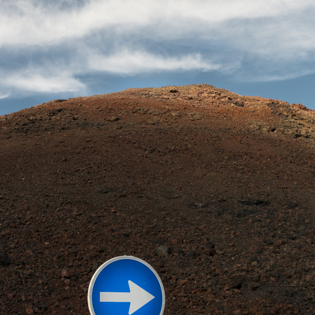 """Traffic sign in Lanzarote"" stock image"
