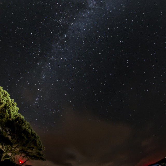 """Camp and the Milky Way"" stock image"