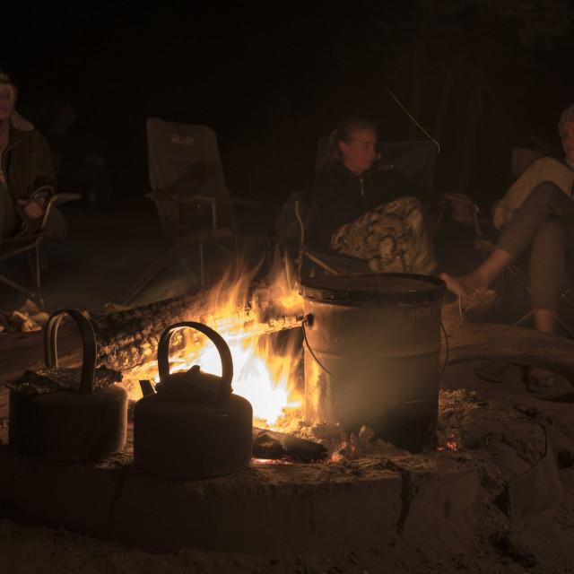 """""""Camping Central Kalahari"""" stock image"""