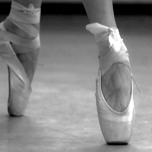 """Ballerina dancing"" stock image"