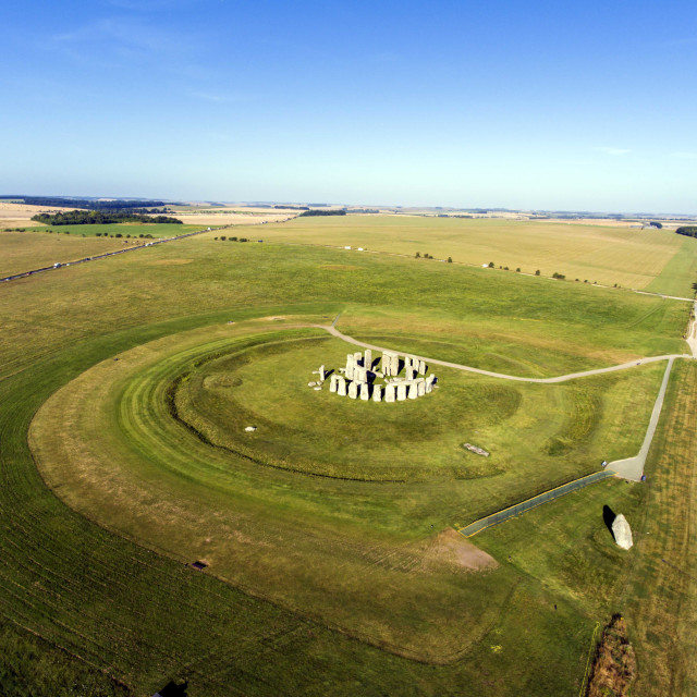 """Stonehenge Aerial Photograph"" stock image"