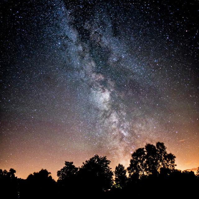 """Milky Way Light Show"" stock image"