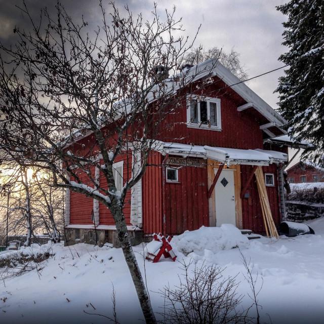 """Norwegen Sunset"" stock image"