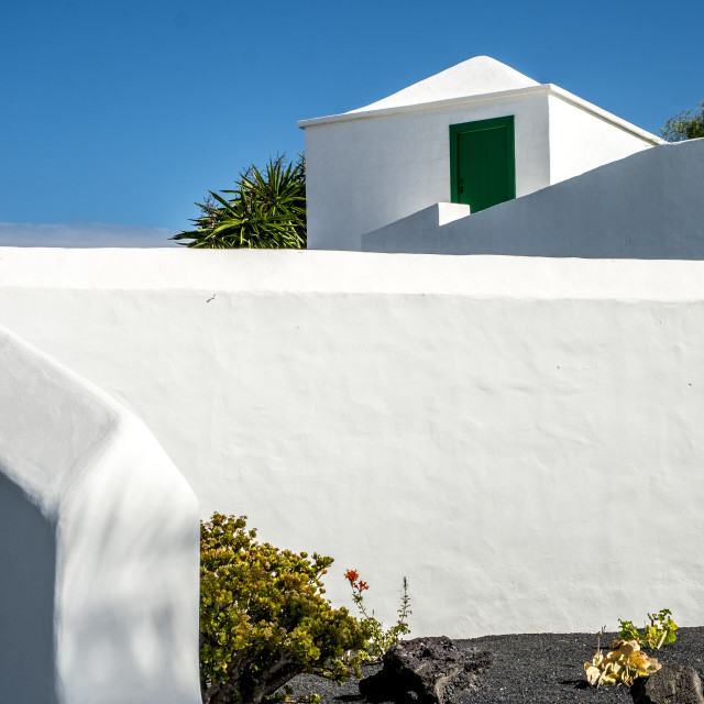 """Traditional architecture in Lanzarote"" stock image"