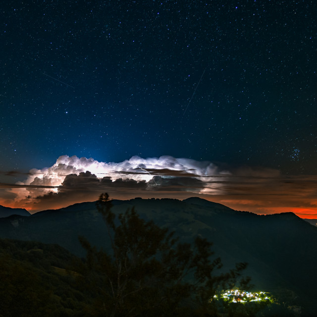 """""""Thunderbolts and falling stars"""" stock image"""