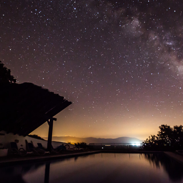 """Milky Way Over The Pool"" stock image"