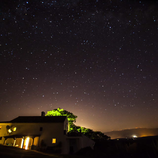 """Villa Under Stars"" stock image"