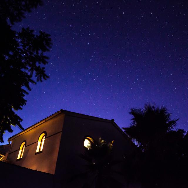 """House Under Stars"" stock image"