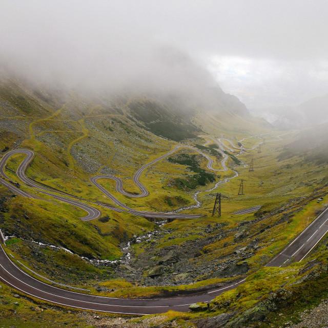 """The spaghetti mountain road"" stock image"
