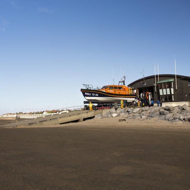 """""""Hoylake Lifeboat"""" stock image"""