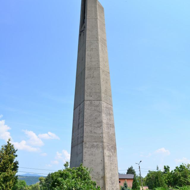 """orsova church tower"" stock image"