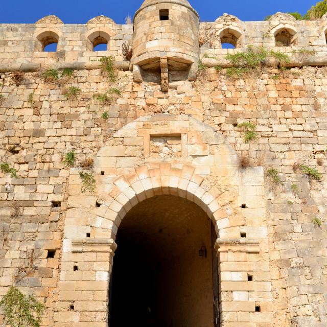 """Rethymno Fortezza gate"" stock image"