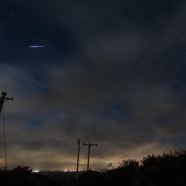 """Perseid Meteor"" stock image"