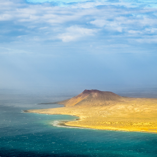 """Isla la Graciosa in Canary Islands"" stock image"