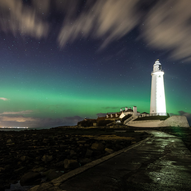 """""""Northern Lighthouse"""" stock image"""