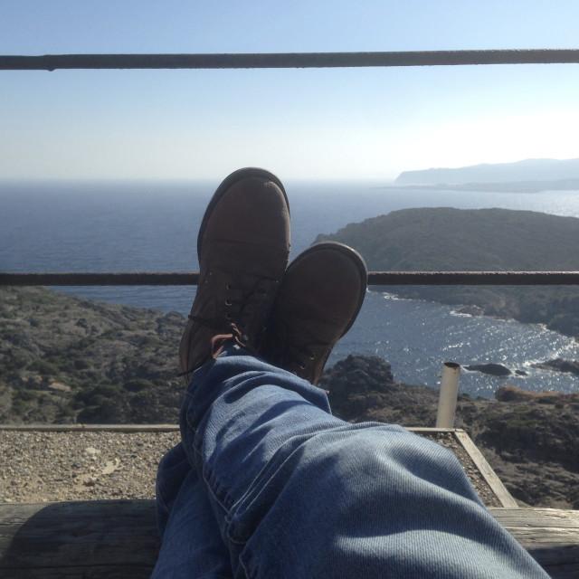 """""""Relaxing in Cap de Creus"""" stock image"""