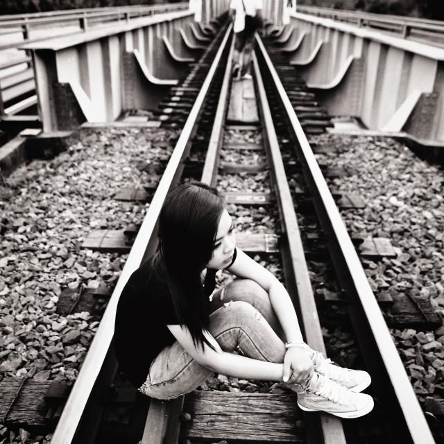"""Break up on railway"" stock image"