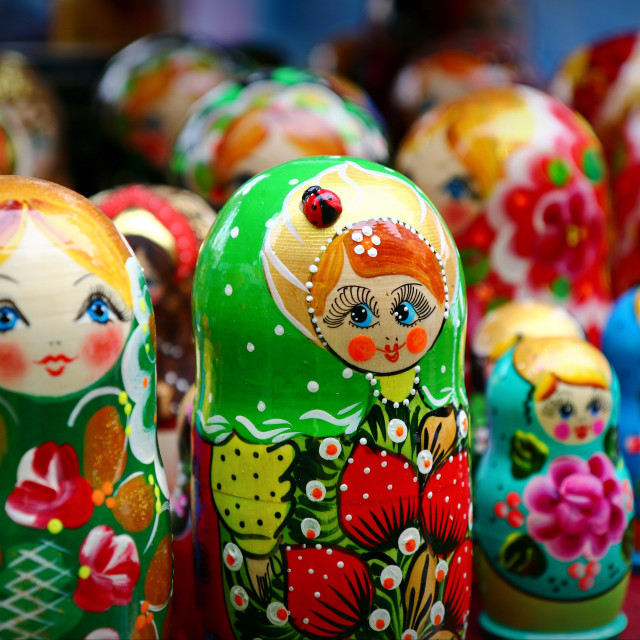 """Matryoshka dolls"" stock image"