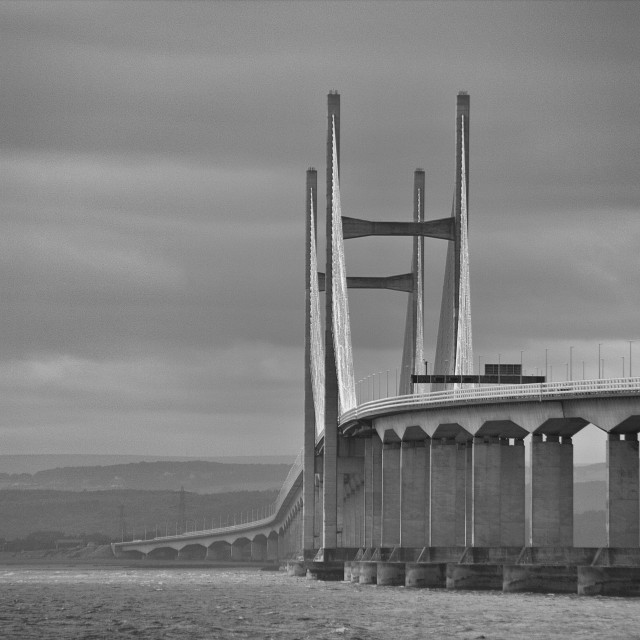 """Bridge to Wales"" stock image"