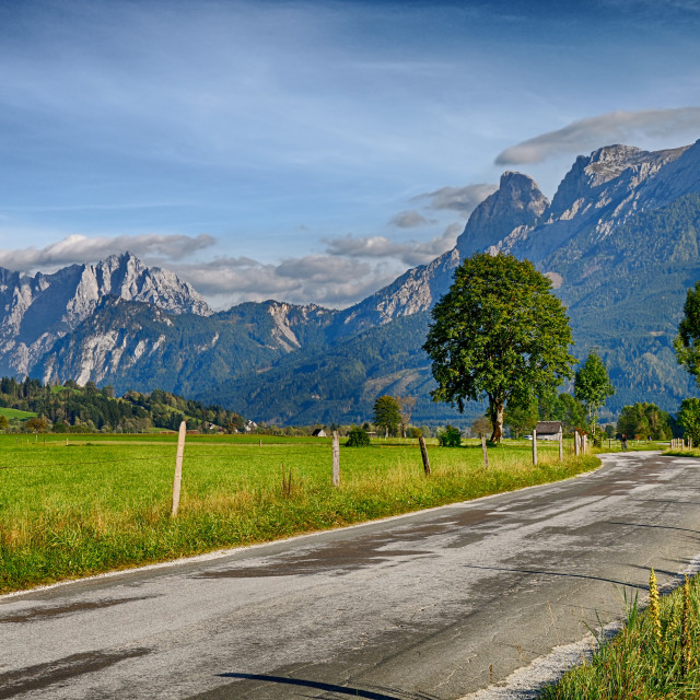 """Alpine landscape"" stock image"