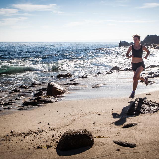 """Beach Runner"" stock image"