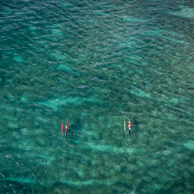 """Outrigger Canoes"" stock image"