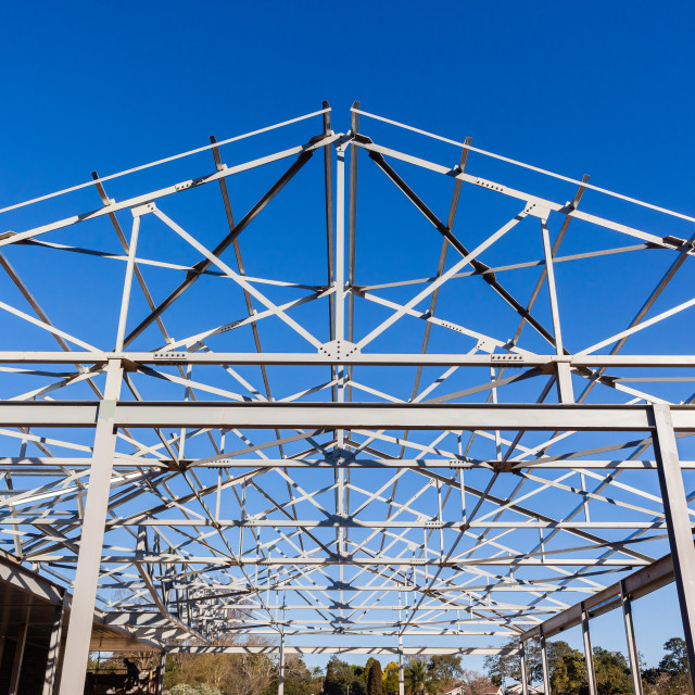 """""""Roof Steel Frame Structure"""" stock image"""
