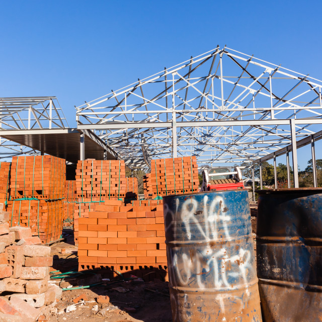 """""""Building Roof Structure Bricks"""" stock image"""