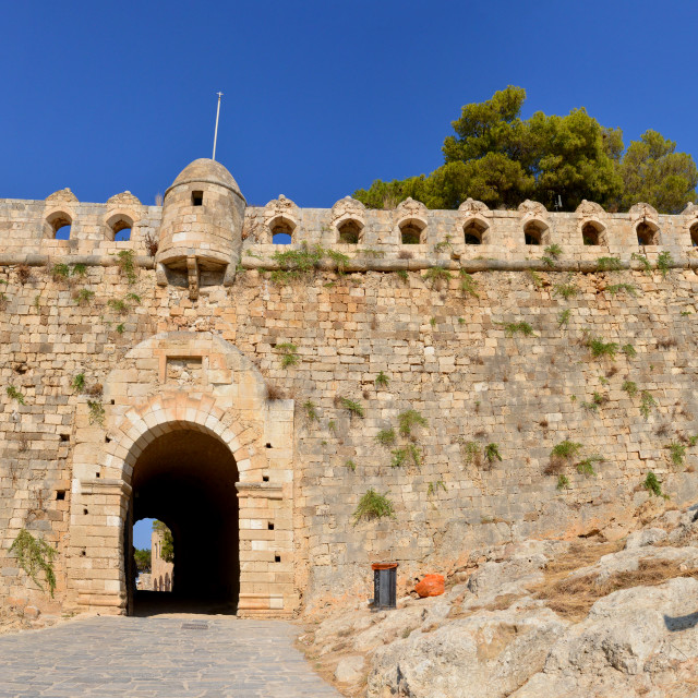 """Rethymno Fortezza fortress main gate"" stock image"