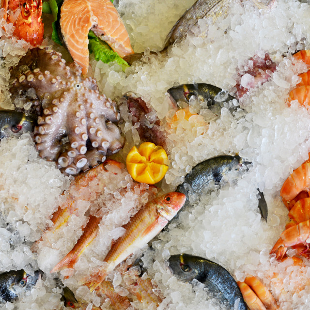 """sea food market"" stock image"