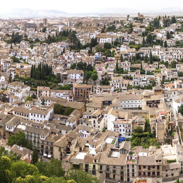 """Moorish quarter of Granada"" stock image"