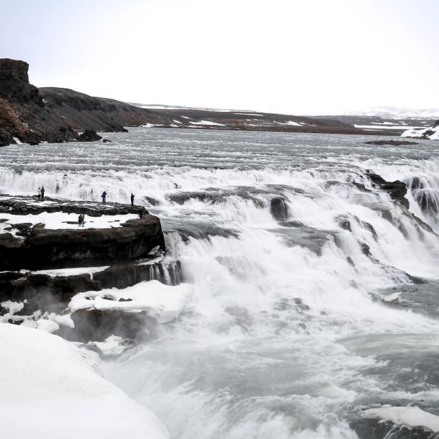 """""""Gulfoss waterfall"""" stock image"""