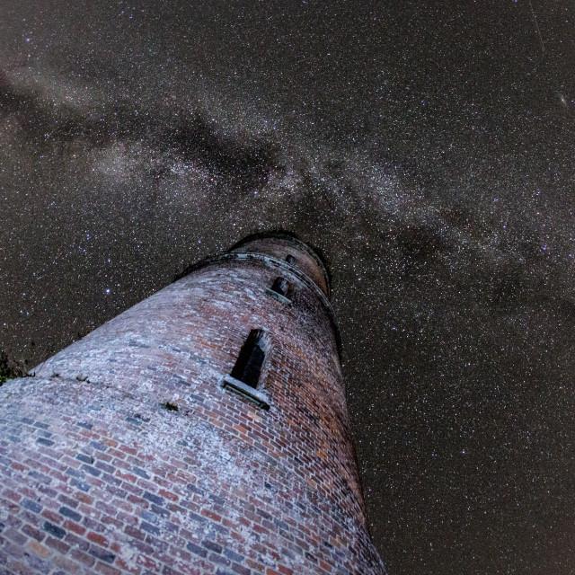 """Horton Tower - Perseid Meteor Shower"" stock image"