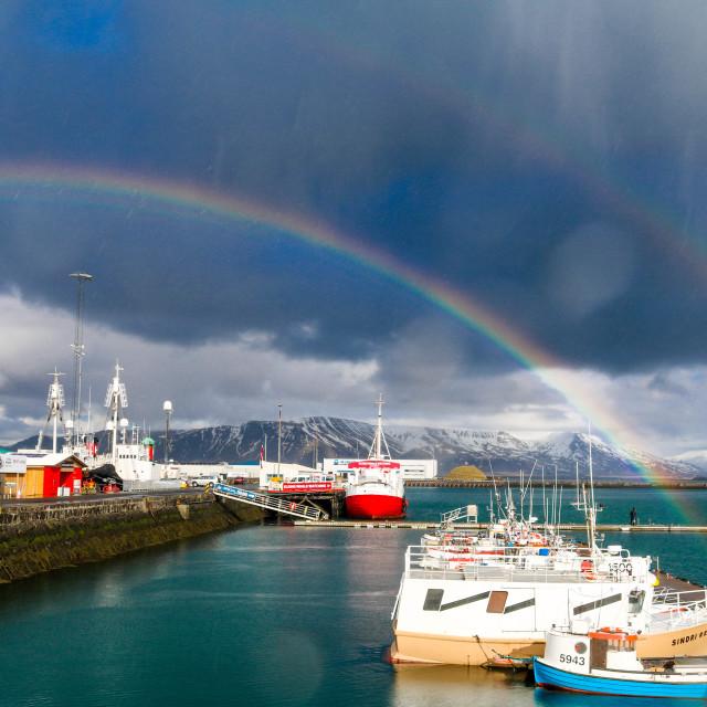 """""""Reykjavik harbour, Iceland."""" stock image"""