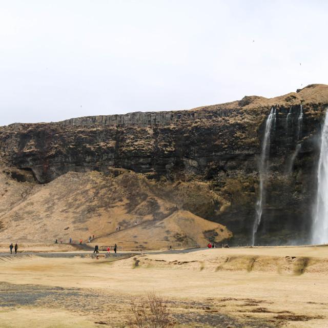 """Waterfalls, Iceland."" stock image"