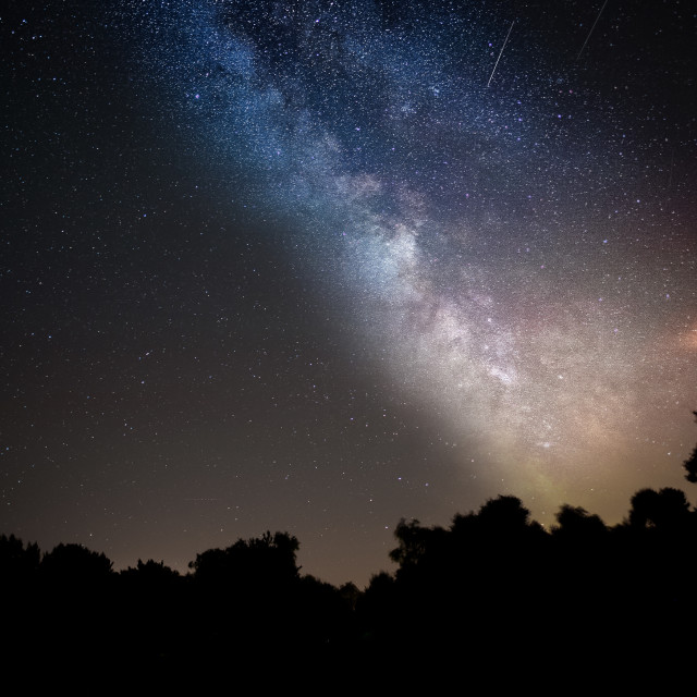 """North Norfolk Milky Way"" stock image"