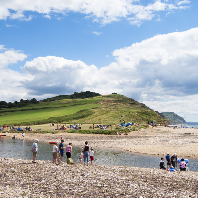 """Beautiful Charmouth"" stock image"