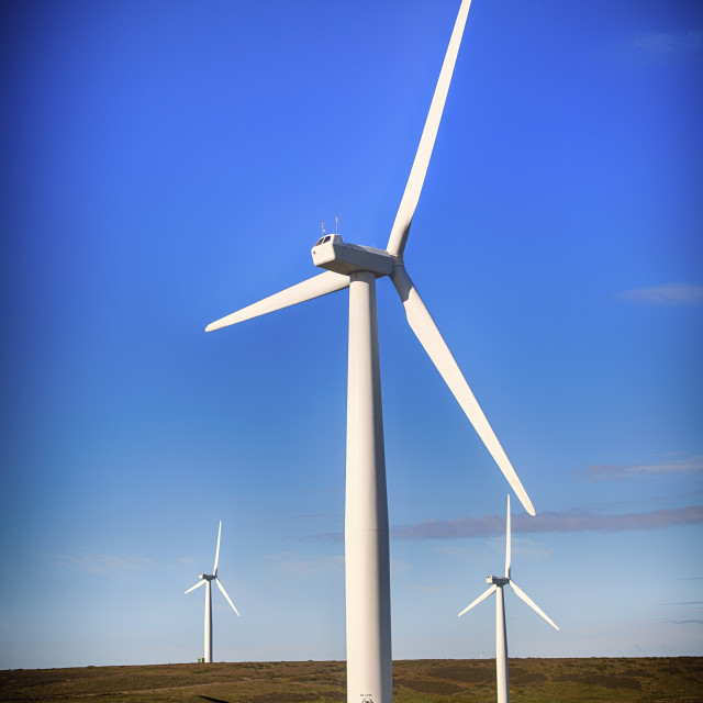 """Wind Turbines in Scotland"" stock image"