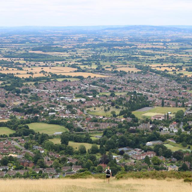 """Malvern Hills"" stock image"