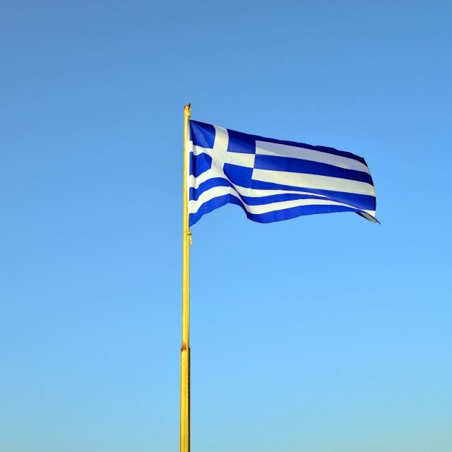 """greece pole flag"" stock image"