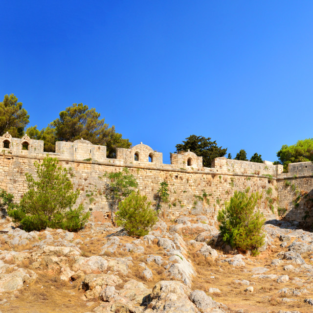 """Rethymno Fortezza fortress panorama"" stock image"