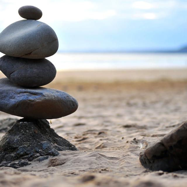 """Balancing Stones"" stock image"