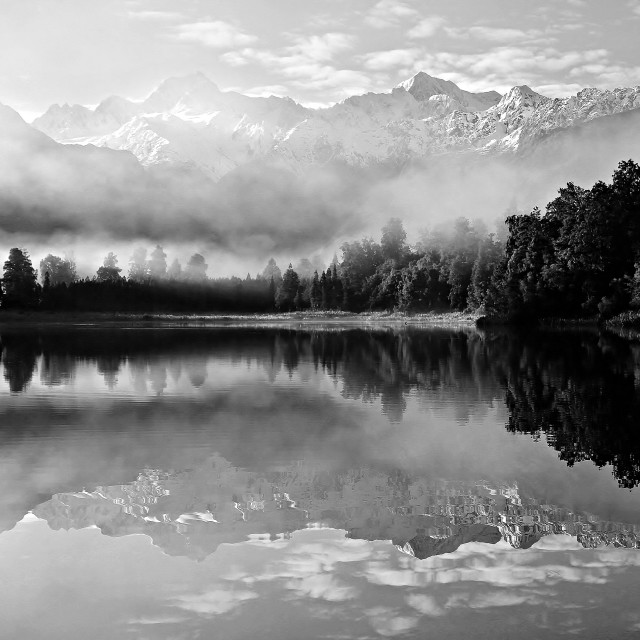 """lake matheson"" stock image"