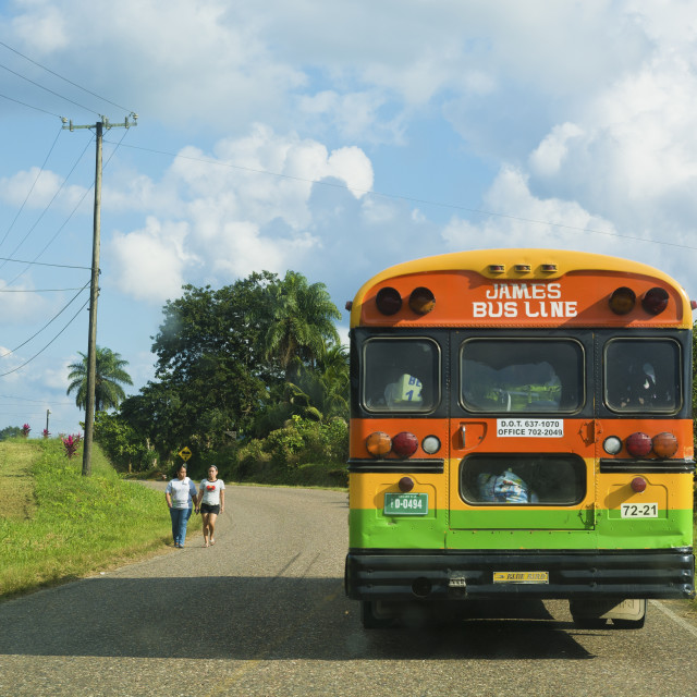 """Bus service in Belize"" stock image"