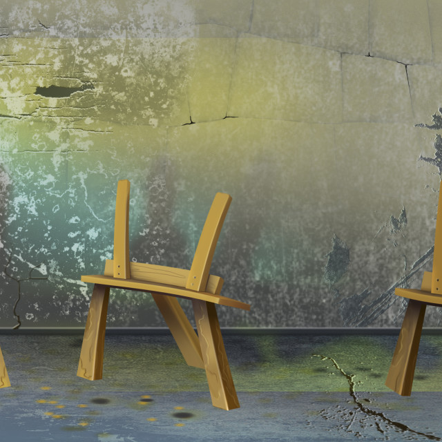 """""""Three Easel"""" stock image"""